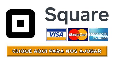 Logo Square Visa Mastercard Amex com Botão de ajuda
